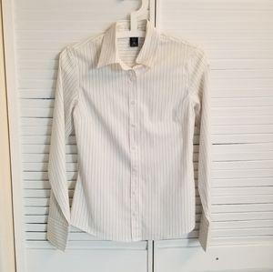 Izod White with Pink/Green stripe Shirt